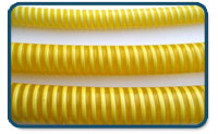 Tubo PVC Flexible con espiral de PVC Rígido amarillo